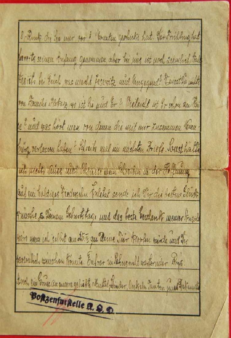 Jewish WW2 Letter fr. DACHAU CONCENTRATION CAMP - 4