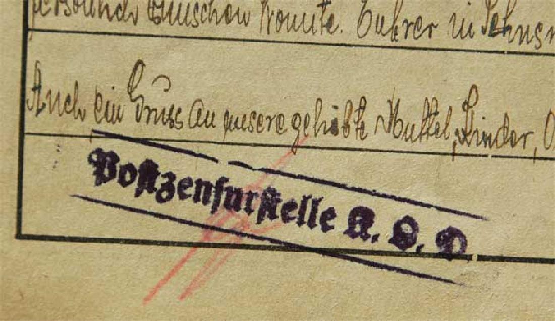 Jewish WW2 Letter fr. DACHAU CONCENTRATION CAMP - 5