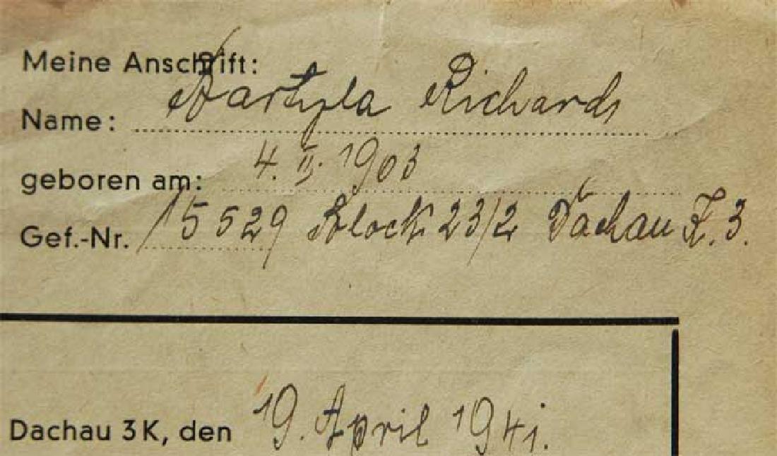 Jewish WW2 Letter fr. DACHAU CONCENTRATION CAMP - 6