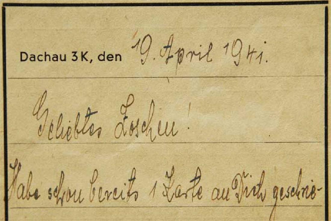 Jewish WW2 Letter fr. DACHAU CONCENTRATION CAMP - 7
