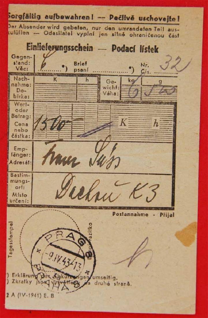 Original Jewish WW2 Receipt from DACHAU, 1943