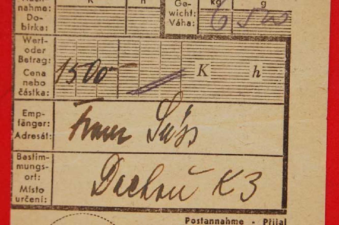 Original Jewish WW2 Receipt from DACHAU, 1943 - 3