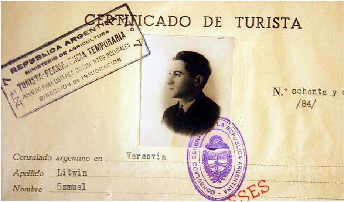 Extremely Rare WW2 Jews WW2 VISA DOCUMENT, 1939 - 2