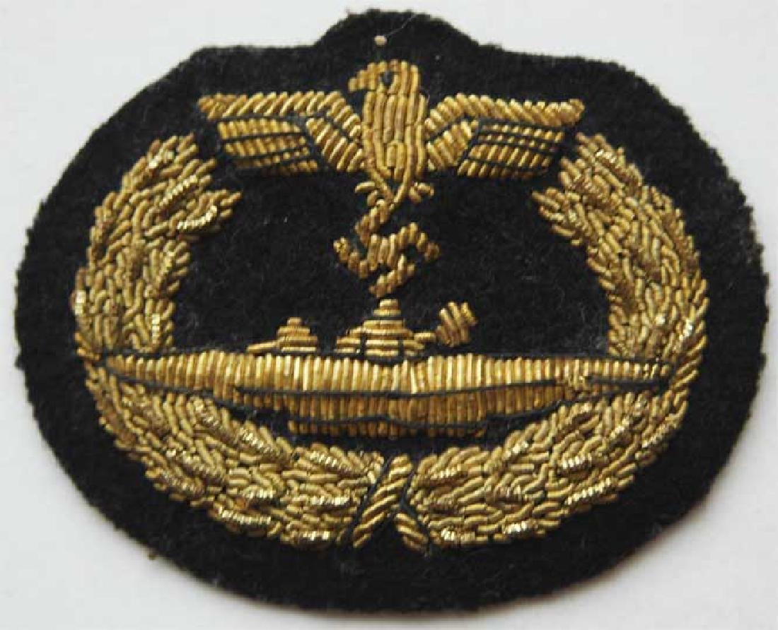 Extremely Rare German WW2 U-Boat Badge, Embroidered