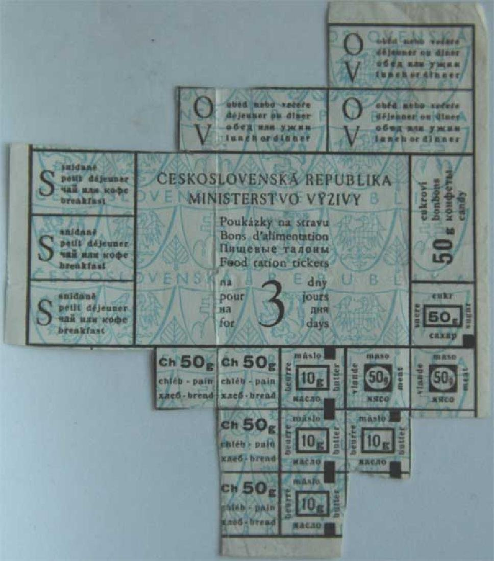 Jewish WW2 Refugee Rationing Card, w. Instructions