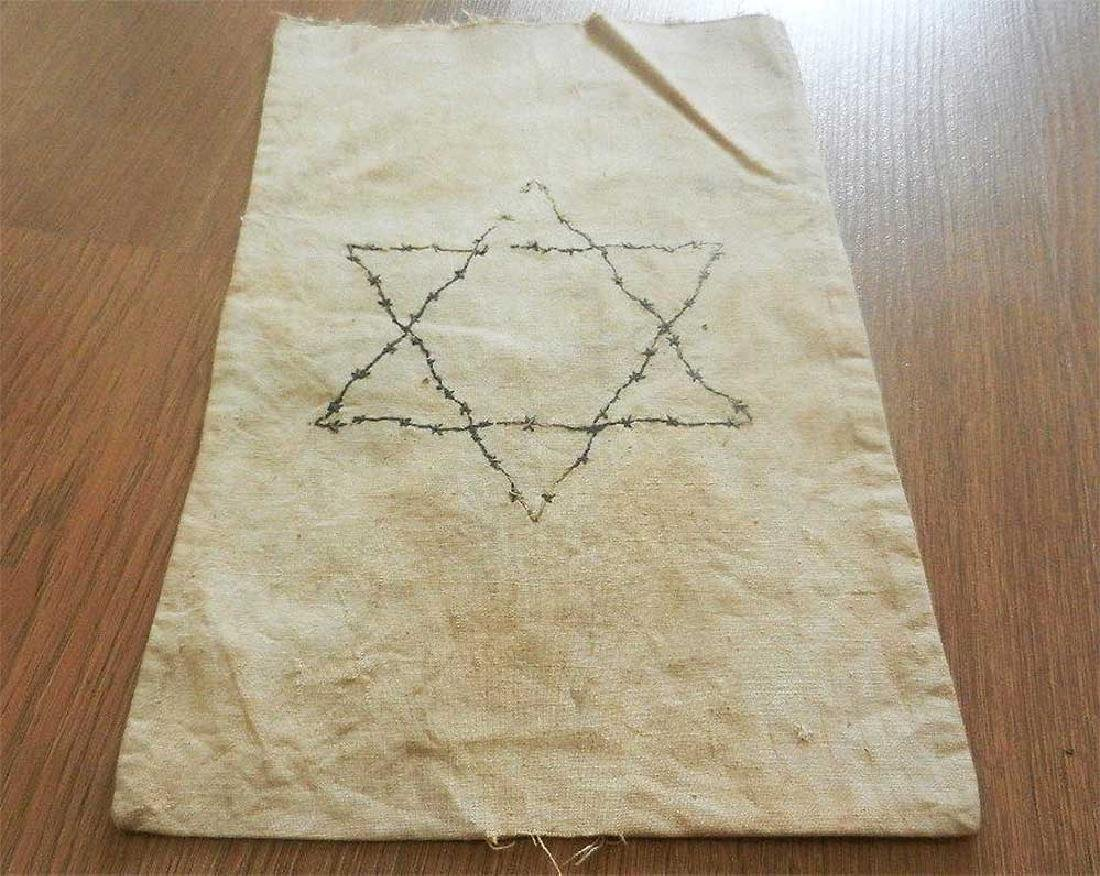 Unusual Jewish WW2 Bag w. STAR of DAVID, Litzmannstadt