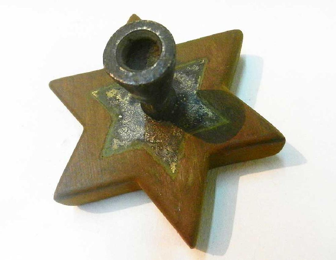 Original Jewish WW2 Candlestick with Star of David - 4