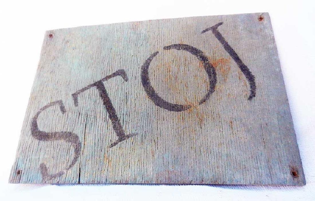 Original German WW2 Plate STOJ, HALT, Stop - 2