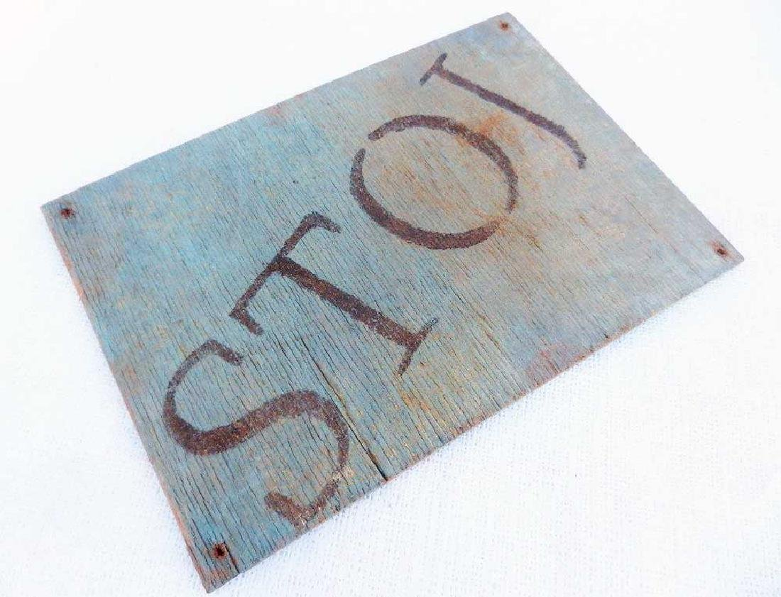 Original German WW2 Plate STOJ, HALT, Stop - 3