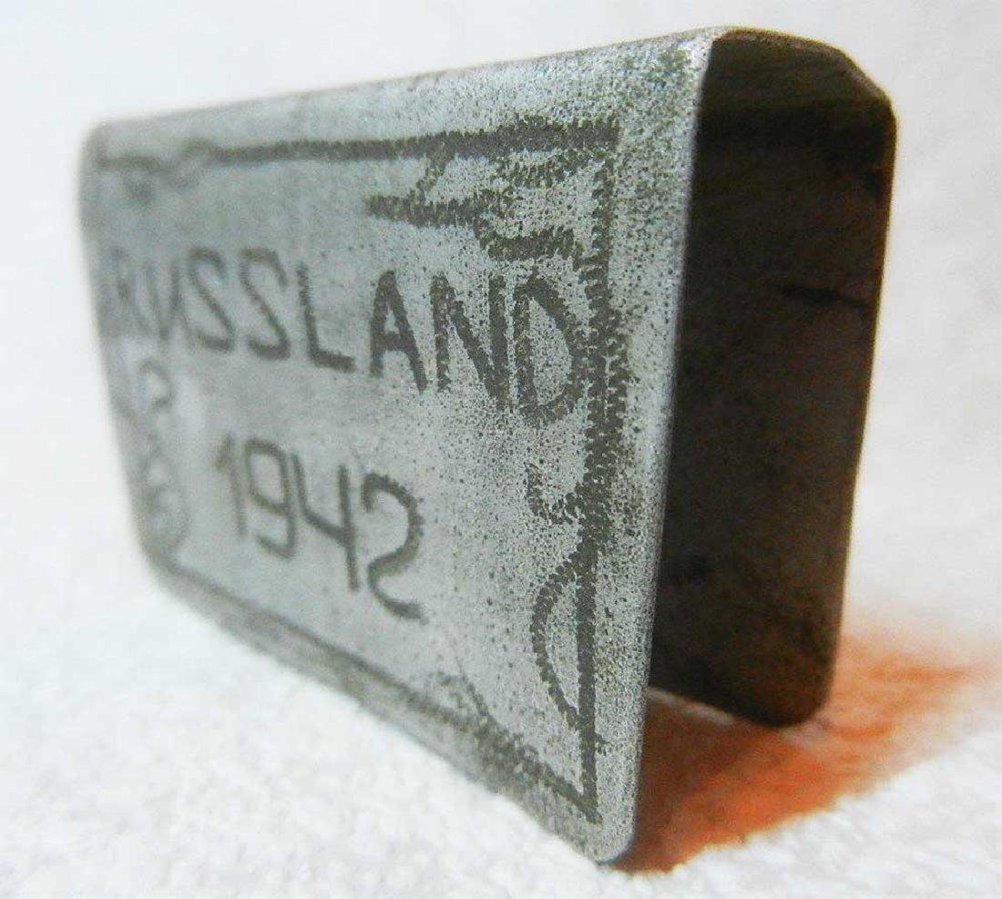 German WW2 CLIP FOR MATCHES, OSTFRONT 1942 - 6