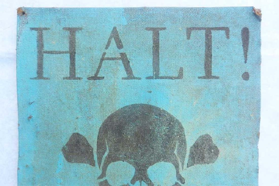 Extremely Rare Original German WW2 Sign Stoj-HALT - 7