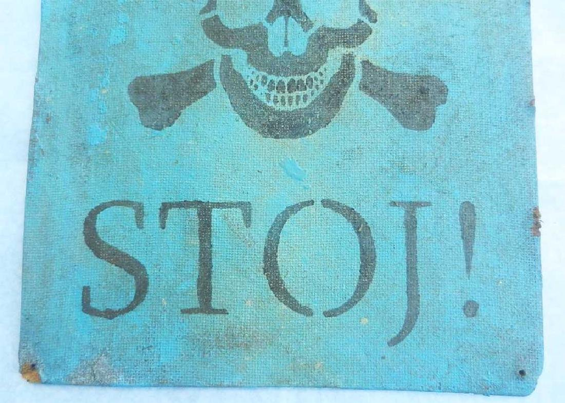 Extremely Rare Original German WW2 Sign Stoj-HALT - 8