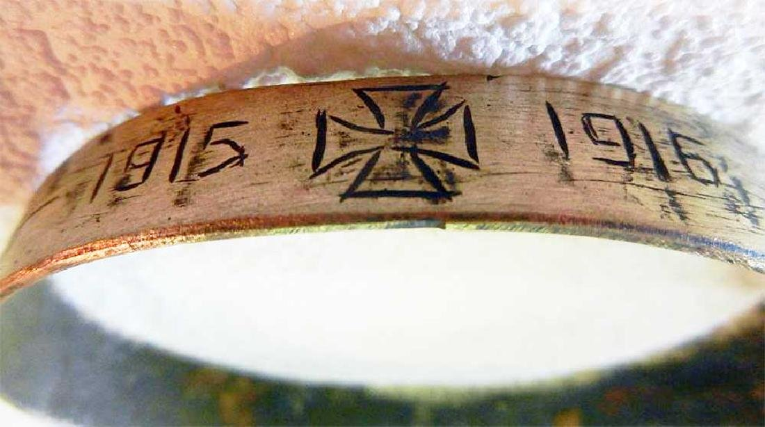 Unusual German WW1 Bracelet w. Iron Cross, 1915-1916