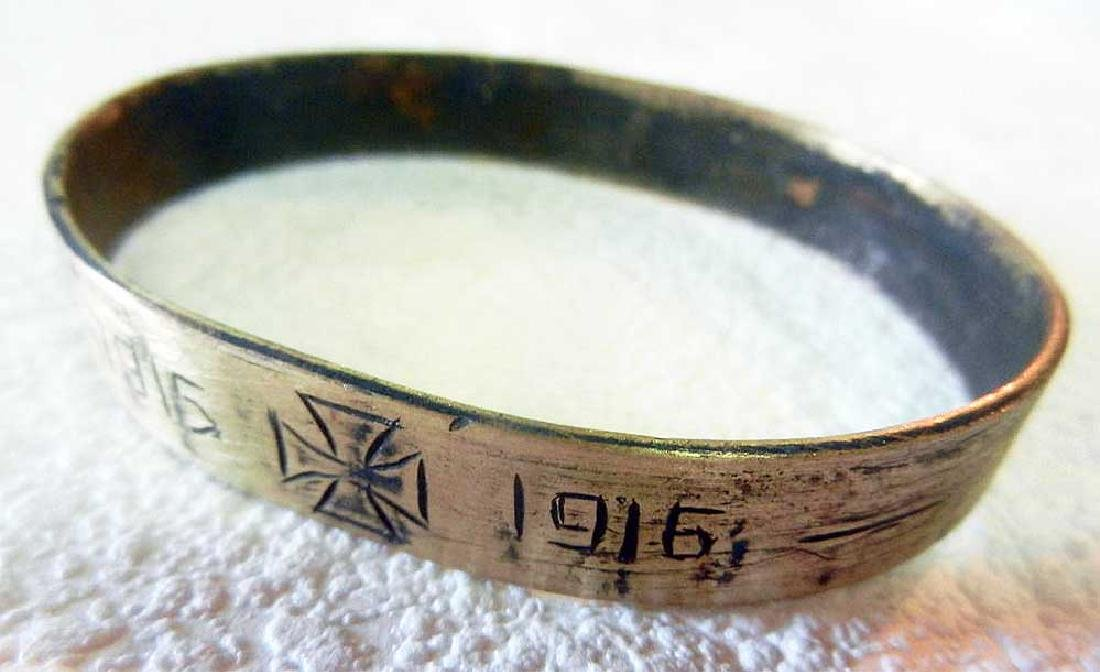 Unusual German WW1 Bracelet w. Iron Cross, 1915-1916 - 2