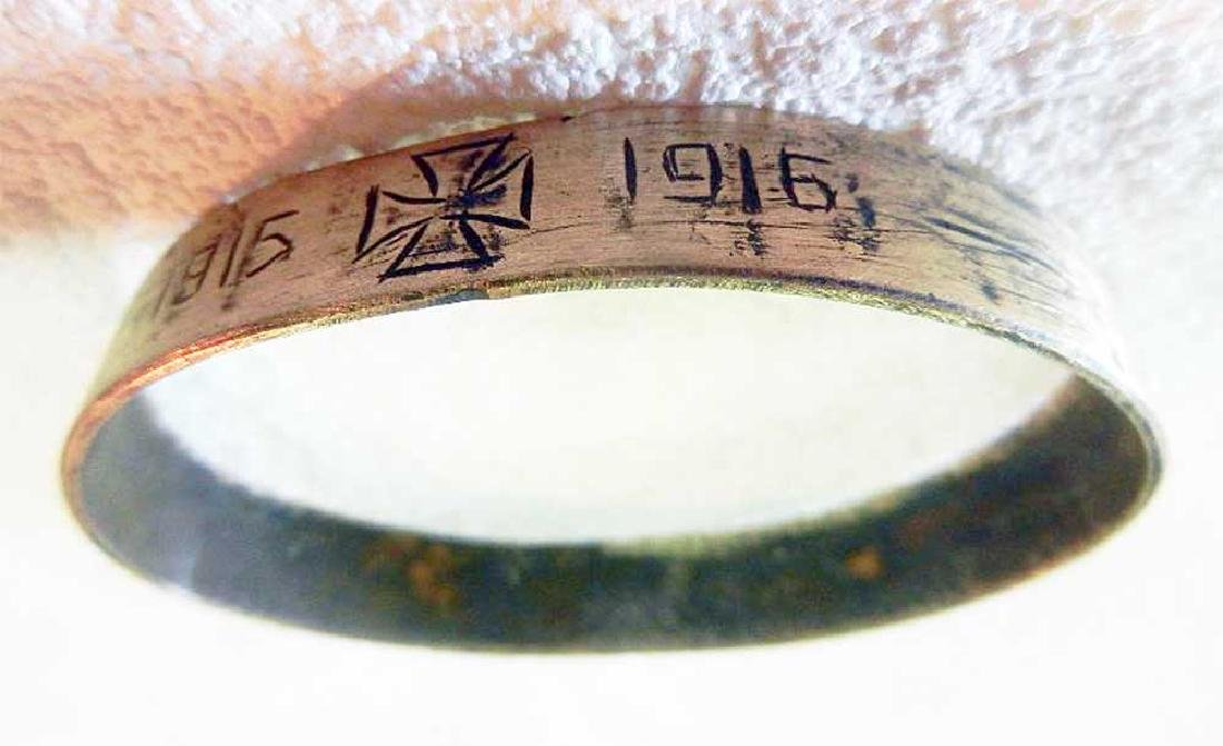 Unusual German WW1 Bracelet w. Iron Cross, 1915-1916 - 4