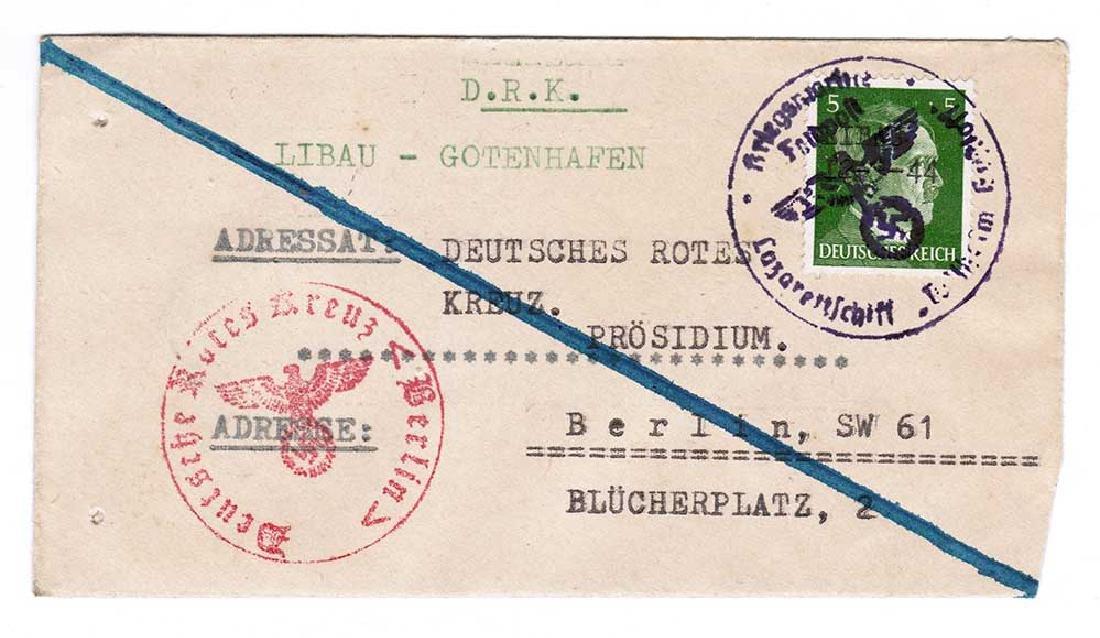 German WW2 Ink KRIEGSMARINE STAMP, LasarettShiff - 7
