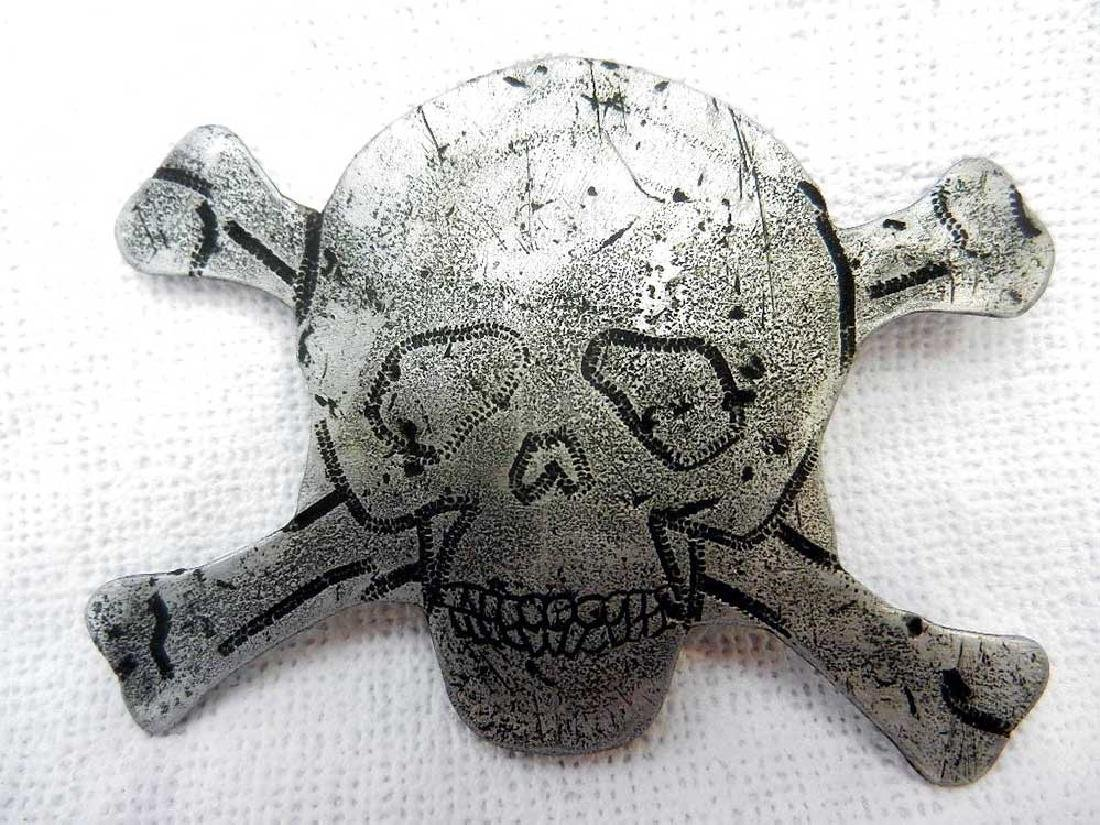 Original German WW2 Badge with Skull and Bones