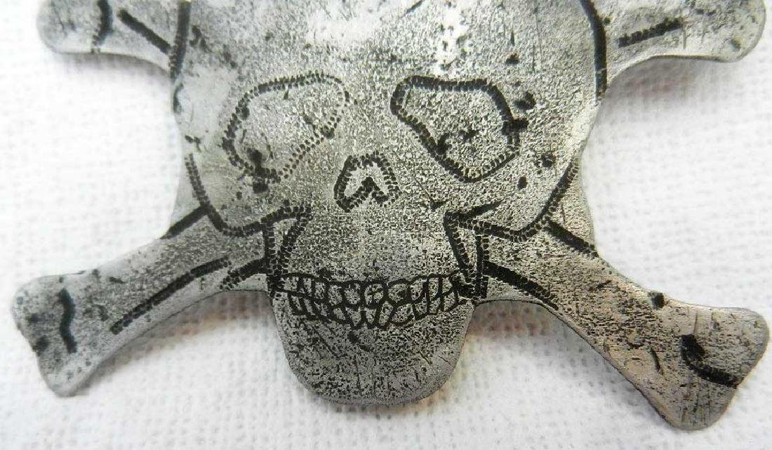 Original German WW2 Badge with Skull and Bones - 8
