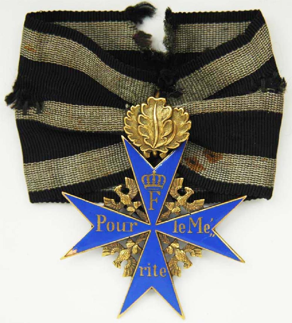UNIQUE Order Pour le Merite, gold w. Ribbon