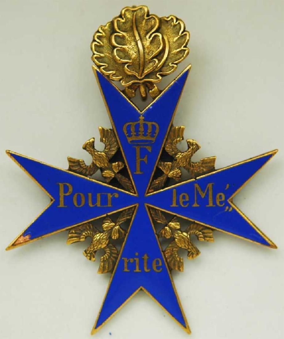UNIQUE Order Pour le Merite, gold w. Ribbon - 2