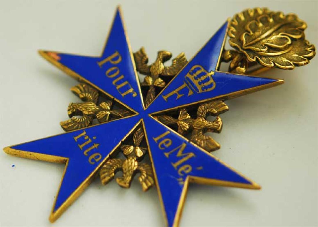 UNIQUE Order Pour le Merite, gold w. Ribbon - 4