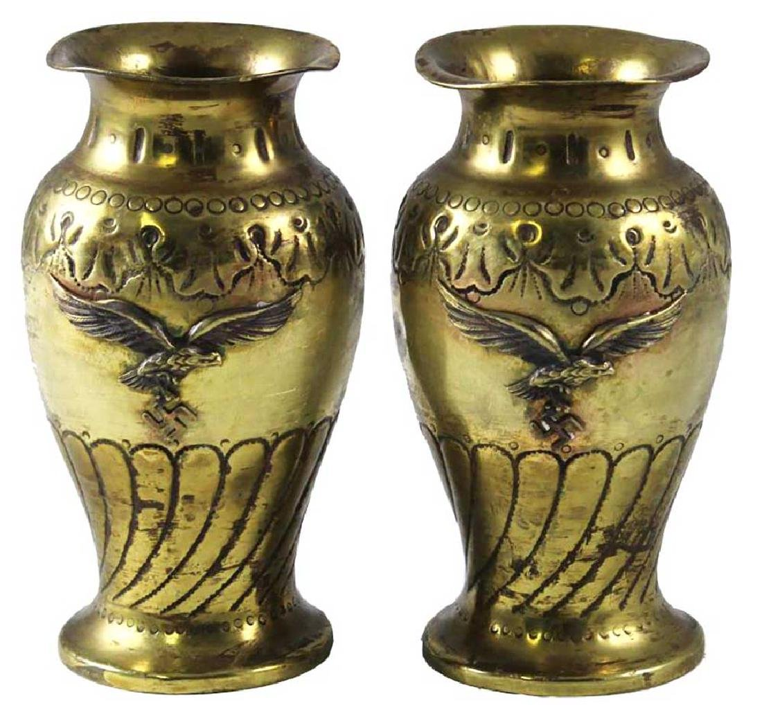 Unusual German WW2 VASE w. LUFTWAFFE EAGLE, 1942
