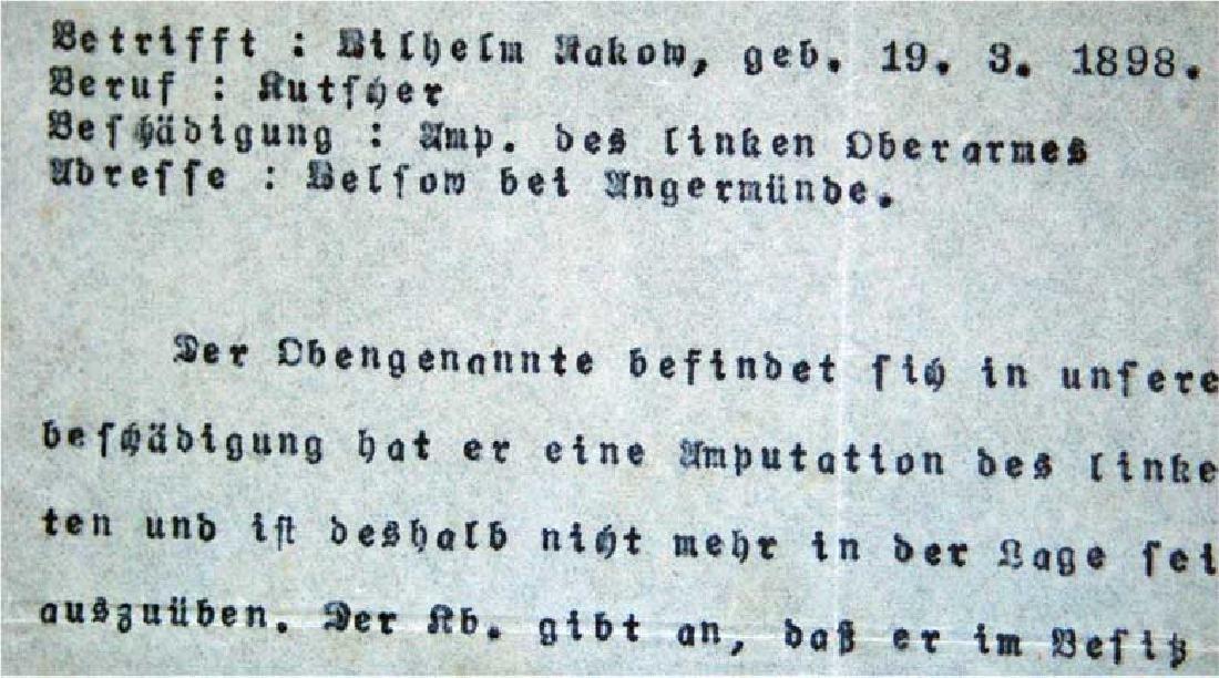 German WW1 Badge 3d Infantry Regiment + document - 10