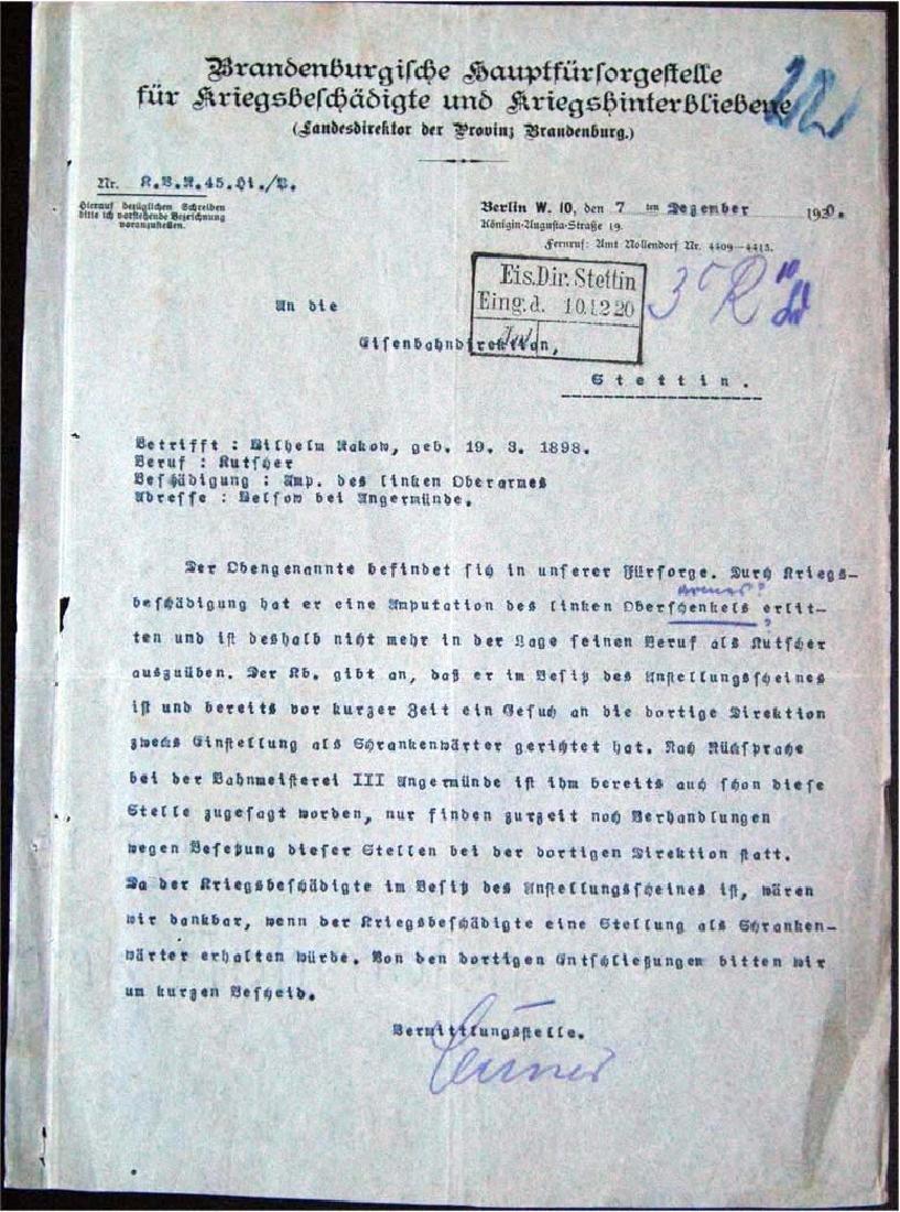 German WW1 Badge 3d Infantry Regiment + document - 6