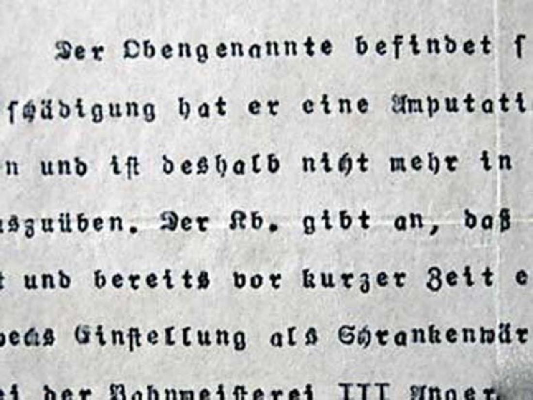 German WW1 Badge 3d Infantry Regiment + document - 7