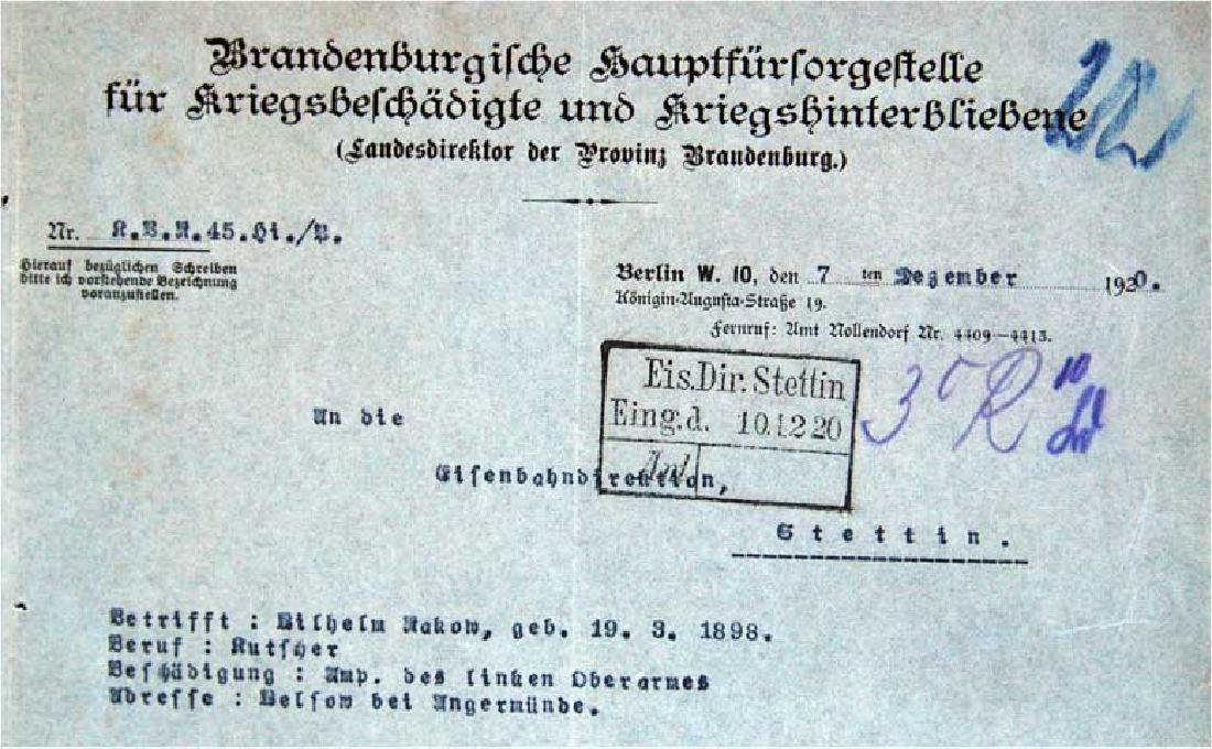 German WW1 Badge 3d Infantry Regiment + document - 8