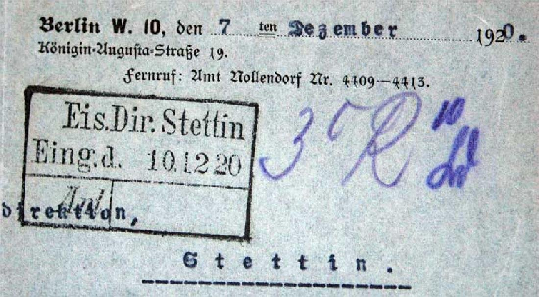 German WW1 Badge 3d Infantry Regiment + document - 9