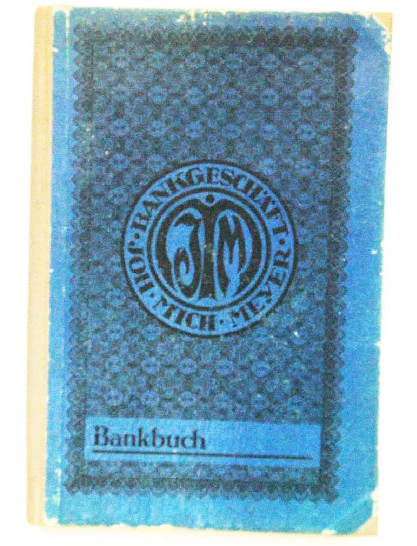 Original German WW2 Bank Book, 1931-1944