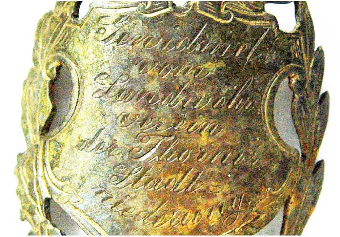 Rare German WW2 Engraved Honour Badge or Flag Nail - 3