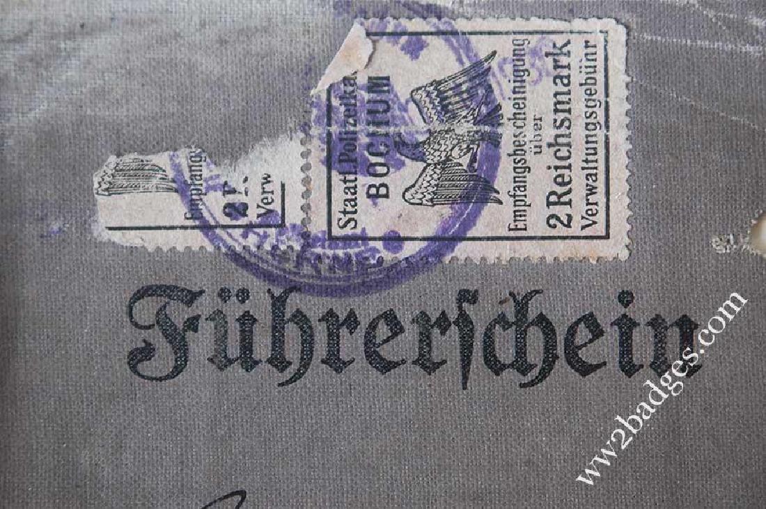 German WW2 DRIVERS BADGE + Driver Licence, 1943 - 7