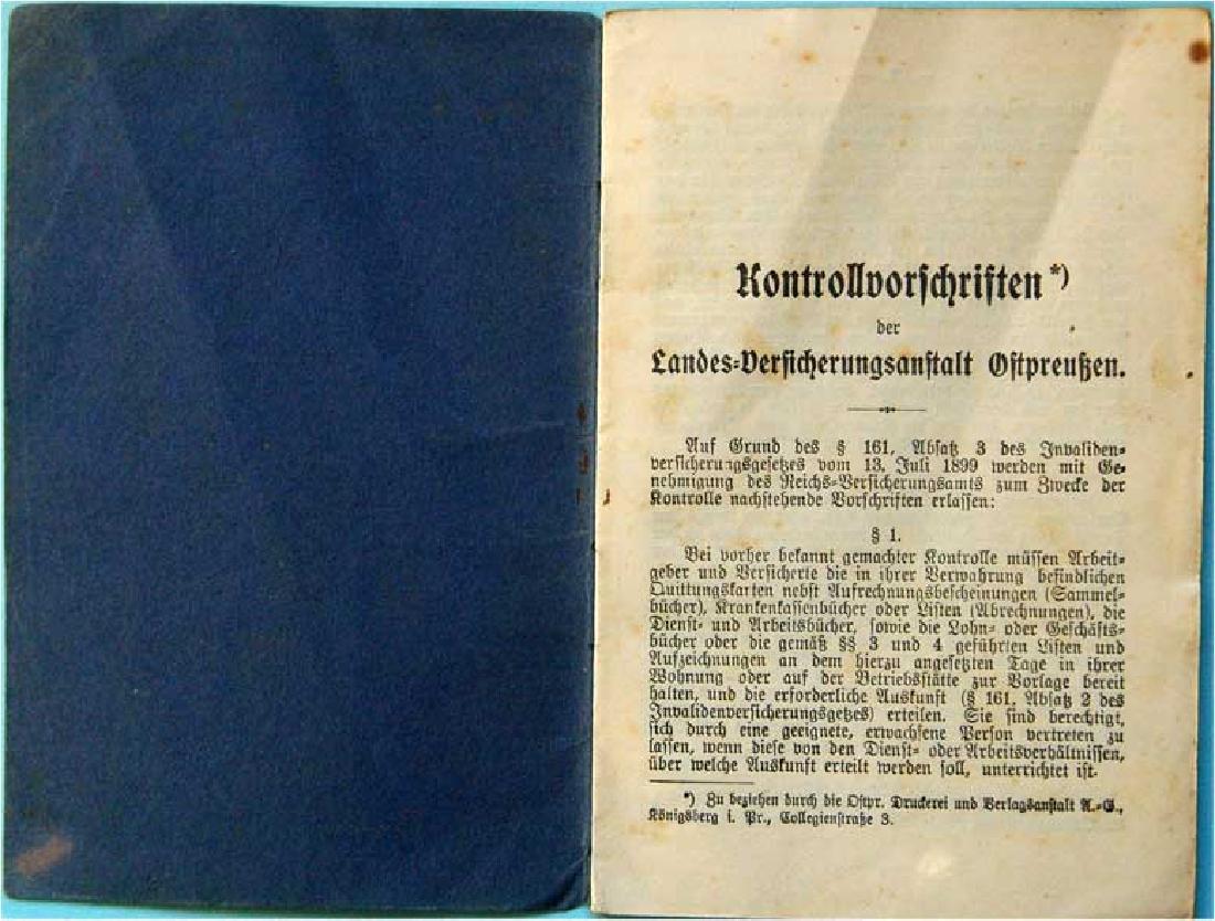 Original German WW2 KONTROLVORFCHRIFTEN
