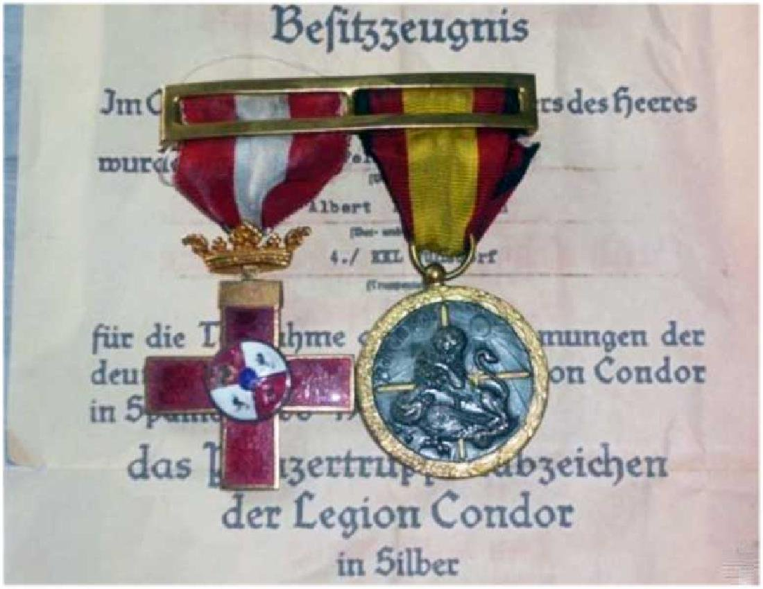 German WW2 Medal Bar Legion Condor Medals, 1936-1939
