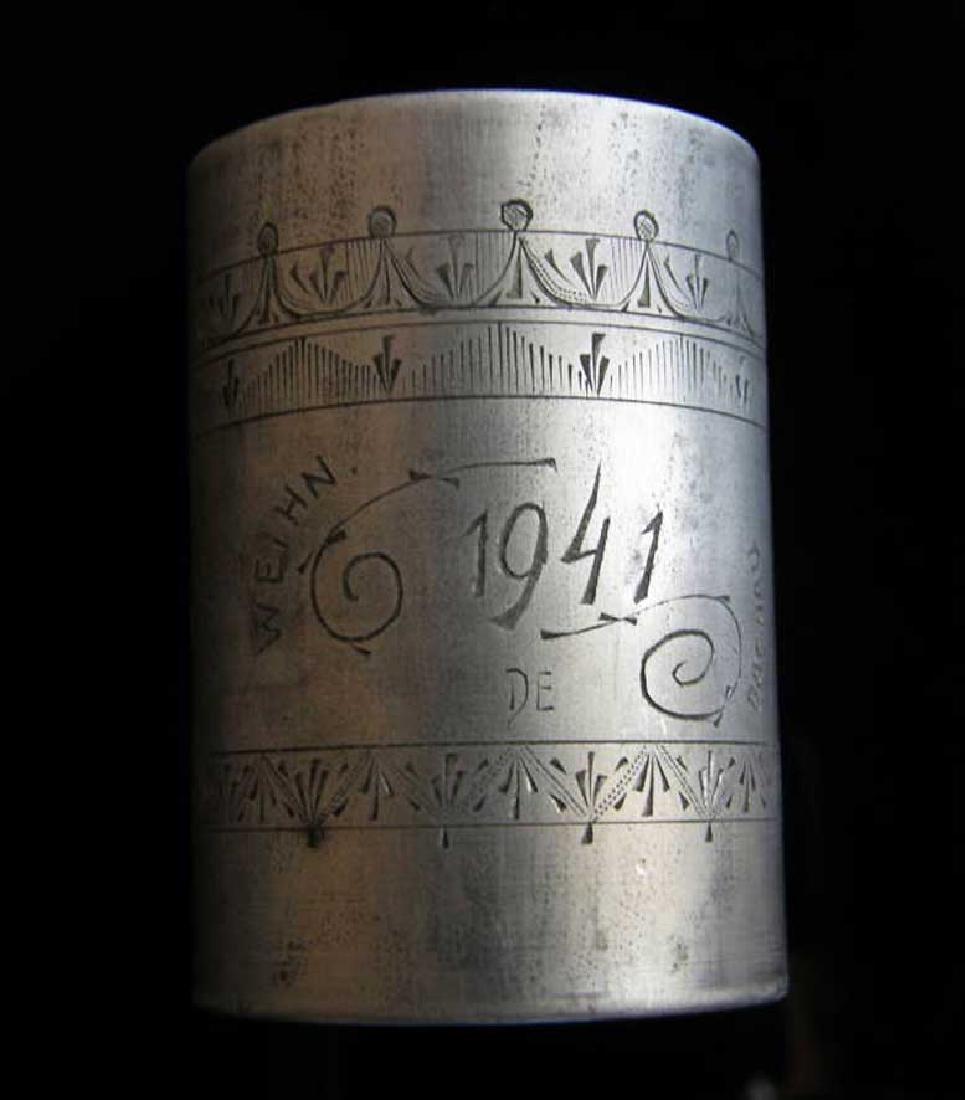 German WW2 METAL CUP fr. DACHAU, 1941 Adolf Hitler - 3