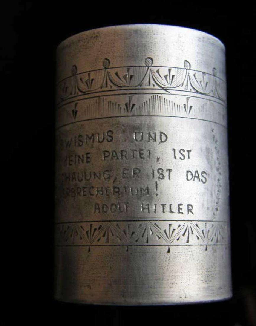 German WW2 METAL CUP fr. DACHAU, 1941 Adolf Hitler - 4