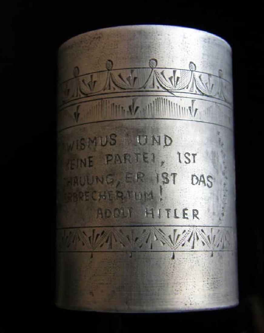 German WW2 METAL CUP fr. DACHAU, 1941 Adolf Hitler - 5