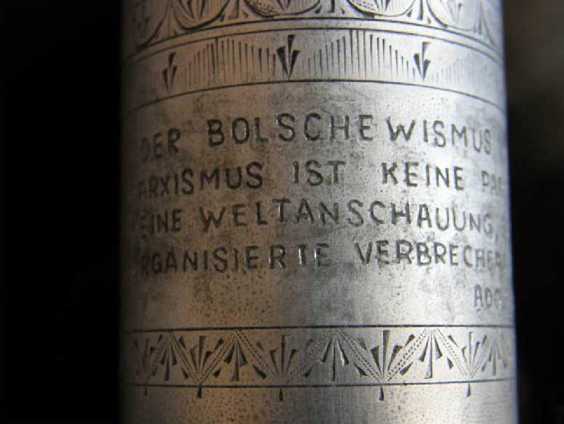 German WW2 METAL CUP fr. DACHAU, 1941 Adolf Hitler - 6