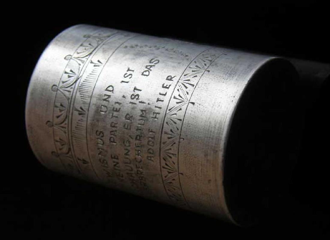 German WW2 METAL CUP fr. DACHAU, 1941 Adolf Hitler - 7