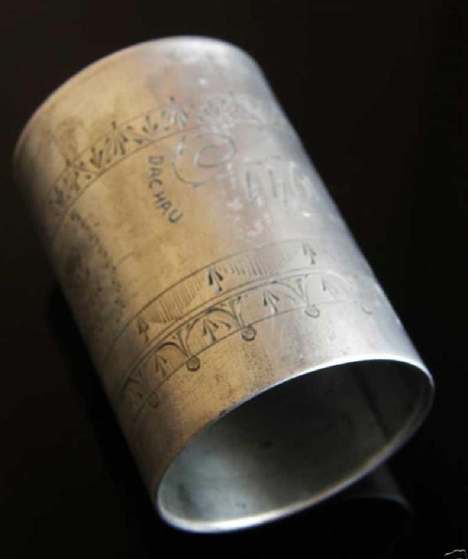 German WW2 METAL CUP fr. DACHAU, 1941 Adolf Hitler - 8