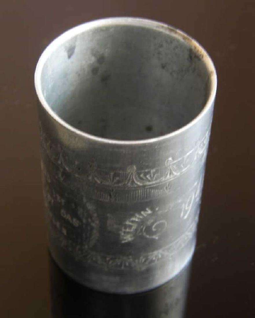 German WW2 METAL CUP fr. DACHAU, 1941 Adolf Hitler - 9