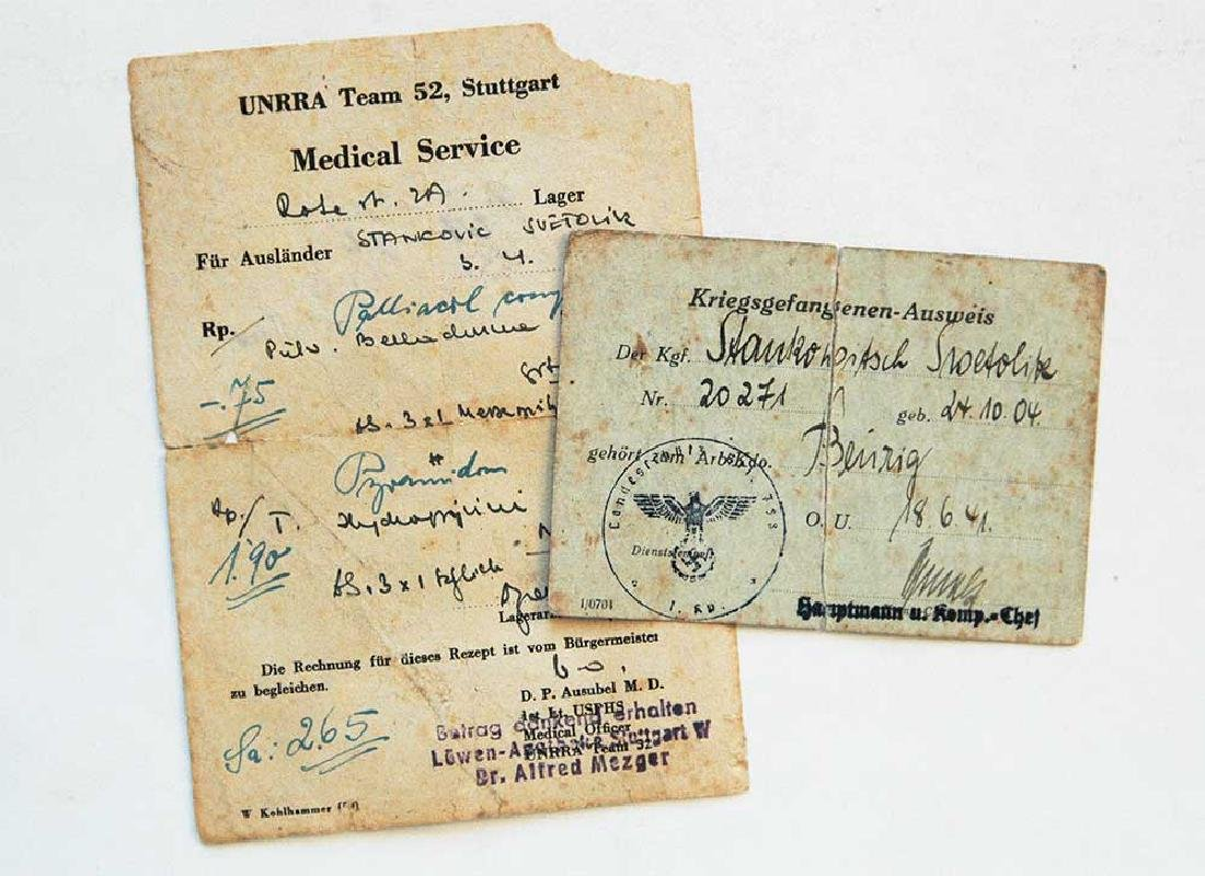 German WW2 Documents fr. Concentration Camp