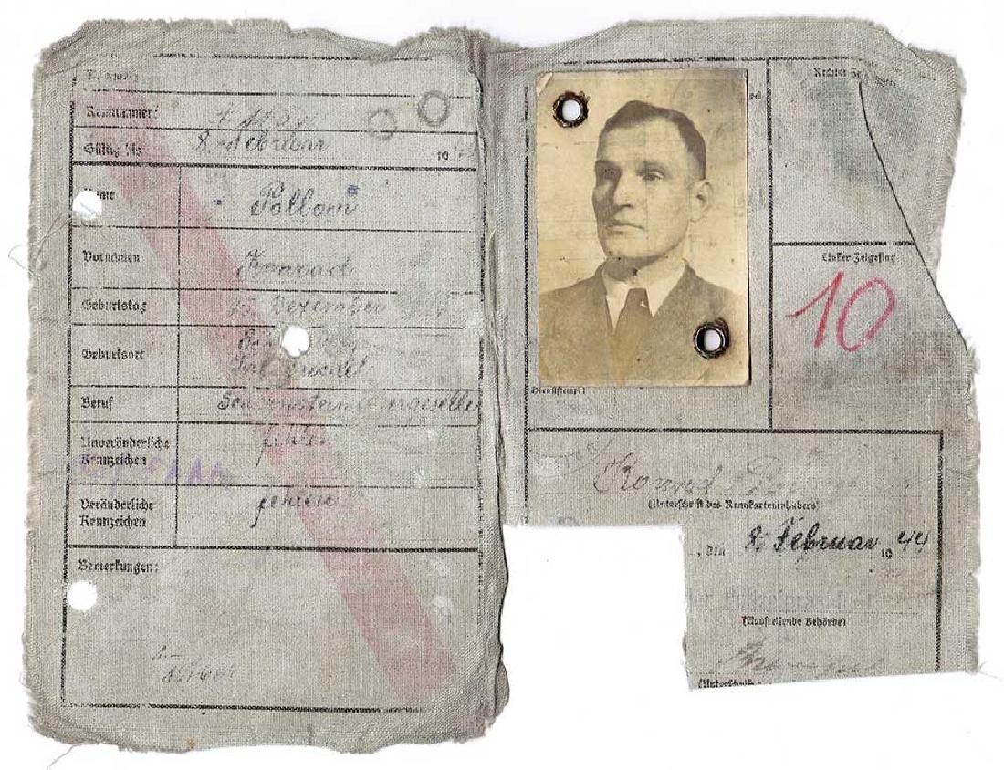 German WW2 Kennkarte, Personal Ausweis, 1944