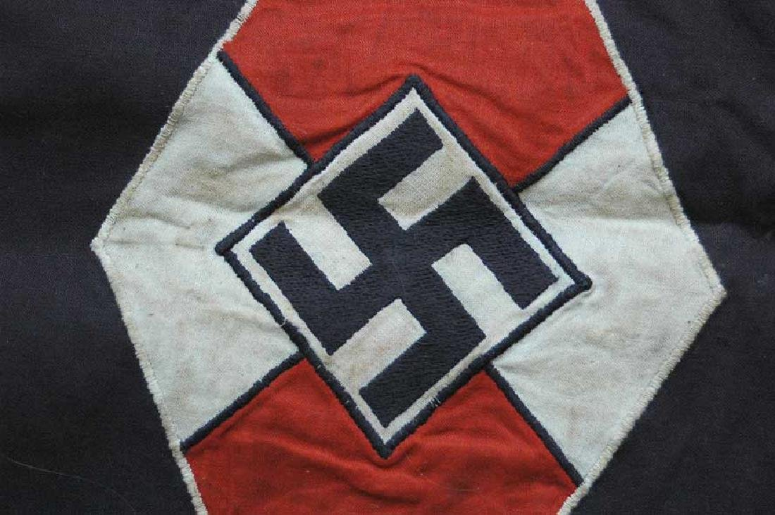 LARGE BATTLE German WW2 Hitler Jugend Pennant - 7