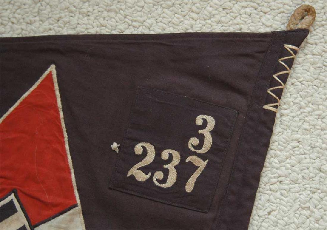 LARGE BATTLE German WW2 Hitler Jugend Pennant - 8