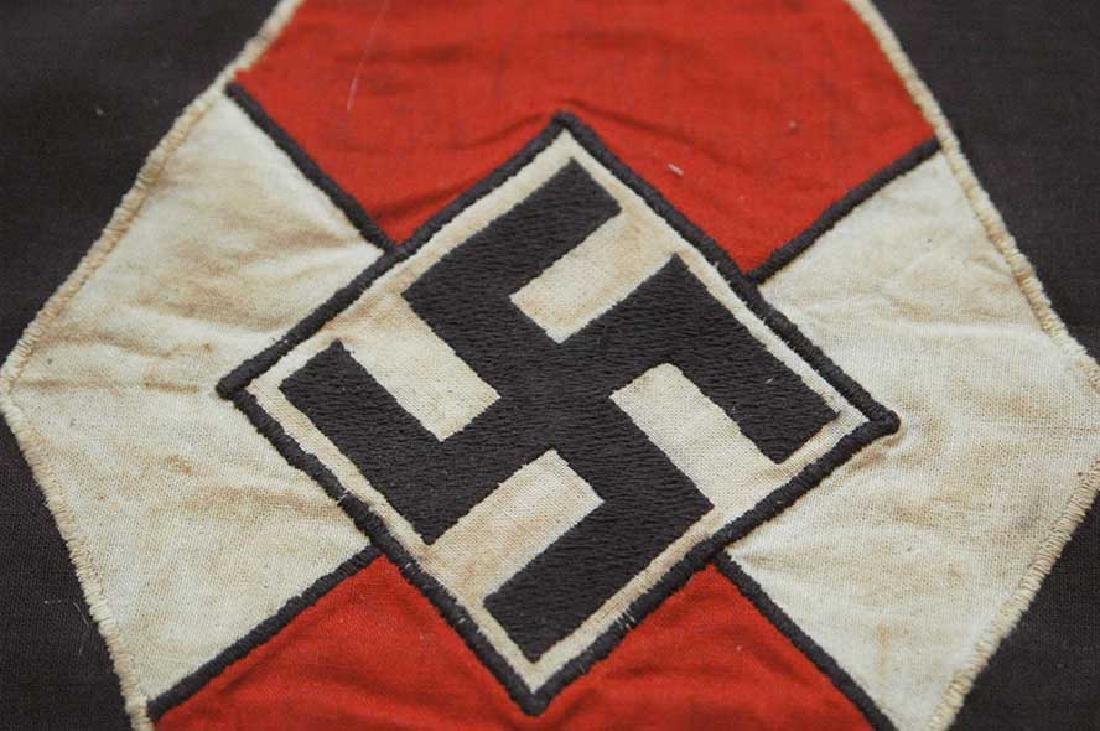 LARGE BATTLE German WW2 Hitler Jugend Pennant - 9
