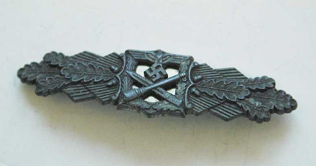 German WW2 CLOSE COMBAT Silver BADGE, FLL