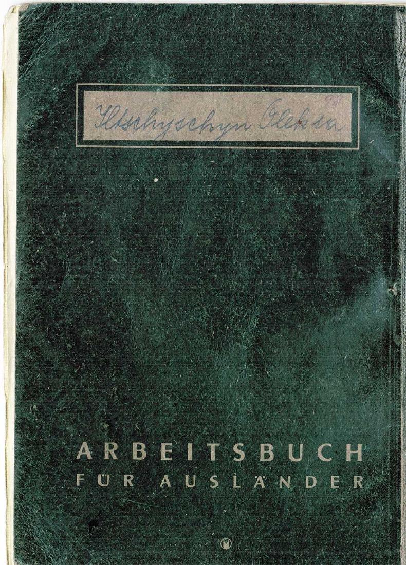 German WW2 Polish Arbeitsbuch w. Strange Notice - 8